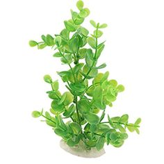 Uxcell Ceramic Base Plastic Aquarium Plant/Grass Decor, Green >>> Want additional info? Click on the image.