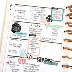 1 month, 1 sticker book in the 'Rose Gold' Horizontal Happy Planner® by mambi Design Team member April Orr | me & my BIG ideas