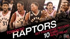 Congrats to the Toronto Raptors for their franchise record winning streak! 1/28/2016
