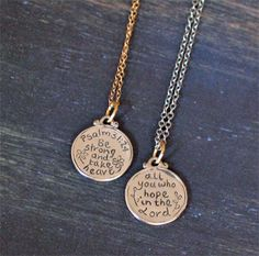 Sterling Silver Small Scripture Medallion - Psalm 31:24 – ChristianGiftsPlace.com Online Store