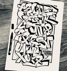 Graffiti Lettering Alphabet, Graffiti Text, Graffiti Piece, Graffiti Writing, Best Graffiti, Tattoo Lettering Fonts, Lettering Design, Arte Hip Hop, Hip Hop Art