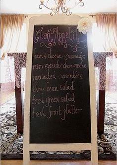 chalk board bistro sign    Photobucket