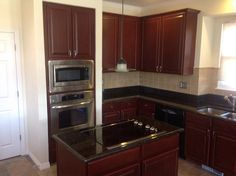 Restoring Kitchen Cabinets In Denver. More Beautiful Dark, Modern Tones  With NHance Color Change