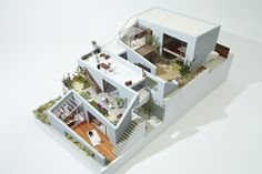 Ultra modern garden house, really bringing the outdoors inside. Great elevations!