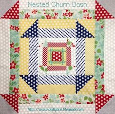Nested Churn Dash Block -Digital Pattern - Want it, Need it, Quilt Store