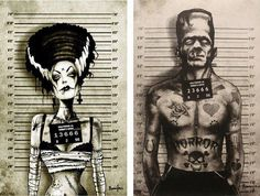 Horror tattoo...I love it! For all the partners in crime!
