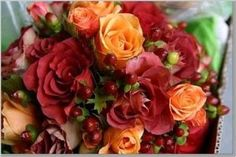 Canopy Rose loves the deep shades of autumn in wedding decor.