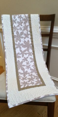 Modern table runner quilted table runner by TheQuiltedPillow, $45.00