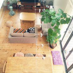 ソファが無印/ストーブ/こたつ机を出す前/わんこと暮らす家/ニトリ/IKEA /フォールディングドア…などのインテリア実例 - 2015-11-02 11:19:56 | RoomClip(ルームクリップ)