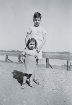 Farrokh Bulsara (Freddie Mercury) with his younger sister Kashmira