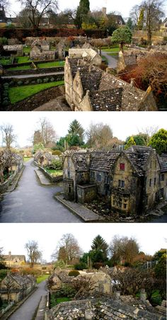 model village in the Cotswolds in Bourton on the Water, England. You can walk all through it, bend down and look in the windows, etc. Beautiful Places To Visit, Oh The Places You'll Go, Bourton On The Water, Model Village, Cotswold Villages, England And Scotland, England Uk, English Village, Wanderlust