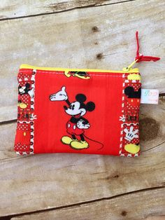 Coin purse /coin pouch/ small zipper pouch/ Disney Mickey and Minnie Mouse by PopThree on Etsy https://www.etsy.com/listing/467109555/coin-purse-coin-pouch-small-zipper-pouch