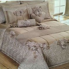 Glamorous Bedding, Luxury Bedspreads, Bed Linen Design, Luxury Bedding Collections, Bed Spreads, Comforter Sets, Bedroom Decor, Decoration, Home Decor