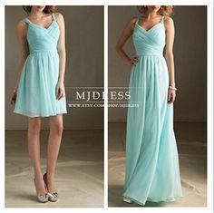 Tiffany Blue Bridesmaid Dress Long Dress with straps Chiffon beach bridesmaid dresses graduation gown Prom Dresses, mint Bridesmaid Dresses