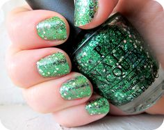 Jess lyons of Main Street Printing Co. - a Phd Chic and Fashion, Style, and [run]Disney enthusiast. Green Nail Polish, Opi Nail Polish, Nail Polish Colors, Cute Nails, My Nails, Natural Fake Nails, St Patricks Day Nails, Soft Nails, Special Nails