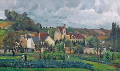 Camille Pissarro「View of l'Hermitage at Pontoise」(1867)