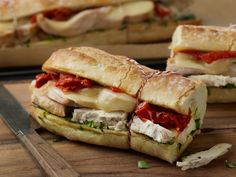 Warm Tuscan Chicken Sandwiches with Basil and Sundried Tomatoes