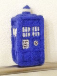 My new hobby -- Needle felting! Finished this needle felted Tardis yesterday. its about 5 inches tall and cute as all get out in person.