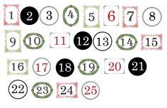 Hammers and High Heels: Head Over Heels DIY Friday: Wood + Yarn Advent Calendar Plus Freebie!