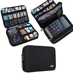 BUBM Double Layer Travel Gear Organizer Travel Electronics Accessories Bag Medium Black >>> Details can be found by clicking on the image. Luggage Store, Travel Luggage, Travel Backpack, Travel Bags, Luggage Backpack, Travel Gifts, Luggage Packing, Travel Accessories, Travel Tips