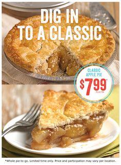 Marie Callender's Apple Pie is only $7.99 all of July! #ApplePie #Summer #MarieCallender's