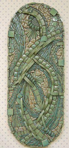 Abstract Mosaic Wall Art Handmade Ceramic Tile good for March show Mosaic Wall Art, Ceramic Wall Art, Tile Art, Mosaic Glass, Mosaic Tiles, Glass Art, Wall Tiles, Stained Glass, Mosaic Crafts