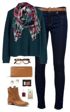 Fashion fall, cozy winter outfits, fall outfits, cute outfits, casual o Fall College Outfits, Fall Outfits, Casual Outfits, Preppy Outfits For School, Casual Jeans, Polyvore Outfits, Polyvore Fashion, Moda Polyvore, Look Fashion