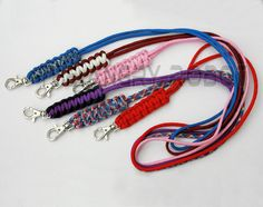 Paracord Neck Lanyard - over 80 colors to choose from - for ID Keys and more. $7.50, via Etsy.