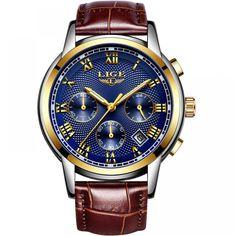 2018 New Watches Men Luxury Brand LIGE Chronograph Men Sports Watches Waterproof Full Steel Quartz Men's Watch Relogio Masculino Sport Watches, Cool Watches, Casual Watches, Stylish Watches, Luxury Watches, Rolex Watches, Swiss Army Watches, Vintage Watches For Men, Watches