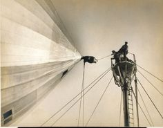 LZ 121 Graf Zeppelin being moored to a mooring mast