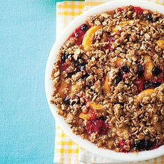Peach-Berry Crumble | This is fabulous...i think next time I will skip the raspberries and double the blueberries....great with french vanilla!