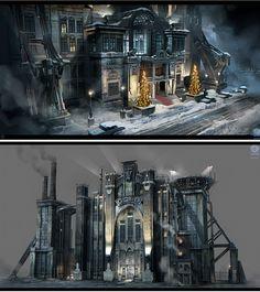 Concept Arts de Batman Arkham Origins, por Nicolas Ferrand