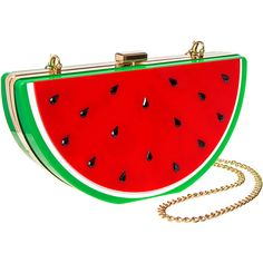 Blue Banana Watermelon Box Clutch Bag (Multicoloured) ($26) ❤ liked on Polyvore featuring bags, handbags, clutches, multi color purse, multi colored handbags, tri color handbags, colorful clutches and box clutch