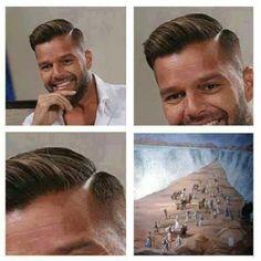 mens haircut - Ricky Martin
