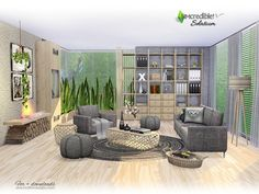 If you like furniture that allows several ways to decorate your room, this set is for you.. Cozy and modern, hope your sims enjoy relaxing on the Solatium living room . Found in TSR Category 'Sims...