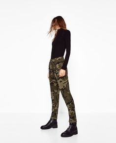 CAMOUFLAGE JOGGING TROUSERS-NEW IN-TRF   ZARA United States