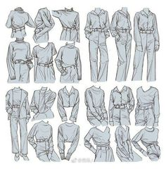 Pants Drawing, Drawing Anime Clothes, Clothing Sketches, Women's Clothing, Body Drawing Tutorial, Anime Drawings Sketches, Drawing Base, Drawing Drawing, Art Poses