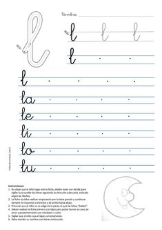 Alphabet Writing Practice, Learning Cursive, Cursive Writing Worksheets, School Worksheets, Learning French For Kids, Teaching French, Cursive Handwriting, Cursive Letters, Letter Activities