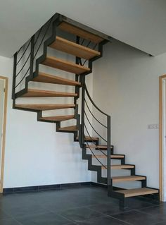 Spiral Staircase, Staircase Design, Outside Stairs, Normal House, Room Design Bedroom, Floating Stairs, Interior Stairs, House Stairs, New Homes