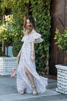 Not Just Another Floral Dress | M Loves M- bohemian floral dress, ruffle maxi dress, summer outfit inspiration