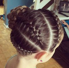 Hairstyles for Girl's - Kids Hairstyles Flat Twist Hairstyles, Lil Girl Hairstyles, Girls Hairdos, Princess Hairstyles, Braided Hairstyles, Gymnastics Hair, Hairstyles For Gymnastics, Hair Due, Look Girl