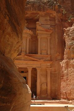 Petra, Jordan. Forever my image of where the holy grail resides, thanks to Indiana Jones.