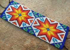 Huichol Loom Beaded Star Bracelet by Aramara on Etsy
