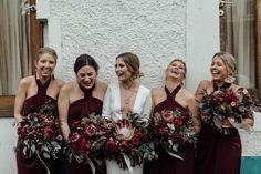 Shona Joy Knot Draped Dress - Burgundy