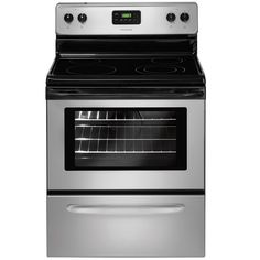Shop Frigidaire 30-in Smooth Surface Freestanding 5.3-cu ft Self-Cleaning Electric Range (Silver Mist) at Lowes.com