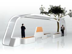An amazing and innovative bus shelter - Designbuzz Urban Furniture, Street Furniture, Bus Stop Design, Bus Stand, Bus Shelters, Lanscape Design, Shelter Design, Landscape And Urbanism, Archi Design