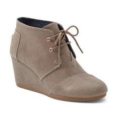 "TOMS 'Desert Wedge' Bootie, 2 3/4"" heel ($79) ❤ liked on Polyvore"