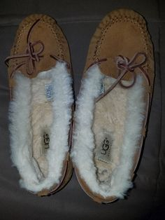 f3b204038326 UGG Australia Womens 8 House Slippers Chestnut. Well worn. Lots of life  left