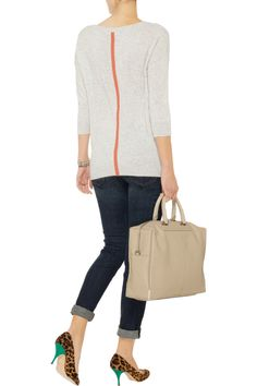 Contrast-stripe cashmere sweater by Duffy