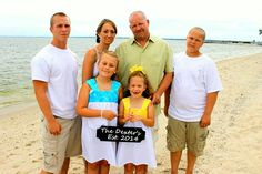 Family beach wedding pic....Piney Point, MD